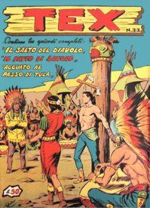 Una delle raccolte delle avventure di Tex che comparivano negli anni '50