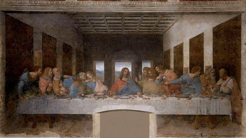 L'Ultima cena, uno dei più celebri capolavori di Leonardo da Vinci