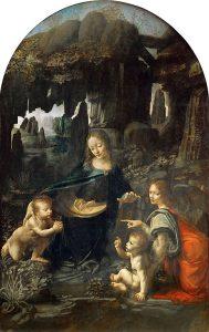 La versione originale della Vergine delle rocce, conservata al Louvre
