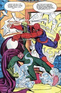 Spider-Man contro Mysterio in una celebre pagina di Ditko