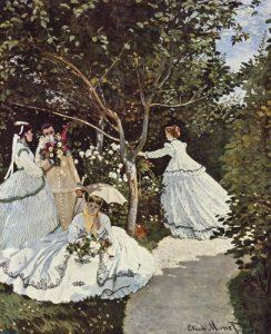 Donne in giardino, quadro che anticipa molti elementi dell'Impressionismo