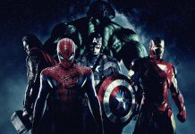 Spider-Man, Thor, Capitan America, Iron Man e Hulk, protagonisti di alcuni dei film sui supereroi Marvel di maggior successo