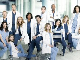 Una parte del nutritissimo cast di Grey's Anatomy