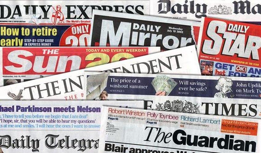 Alcuni dei più famosi giornali inglesi