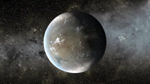 Simulazione che mostra come potrebbe essere Kepler-438 b, il pianeta più simile alla Terra finora conosciuto