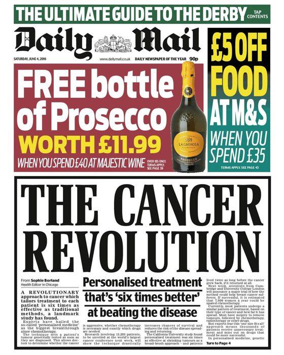 Il Daily Mail torna sull'argomento sanità