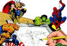 Una parte della copertina di How to Draw Comics the Marvel Way, di Stan Lee e John Buscema