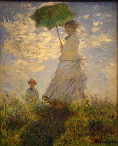 La passeggiata (Camille Monet con il figlio Jean sulla collina)