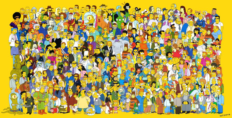 Il corposissimo cast de I Simpson