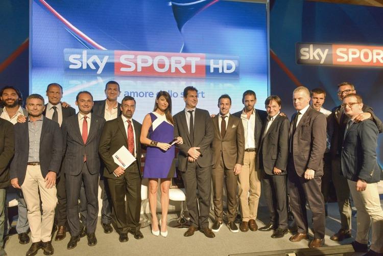 Alcuni dei più importanti giornalisti e commentatori di Sky Sport alla presentazione dell'anno sportivo