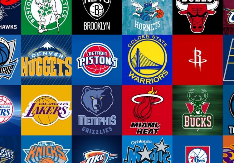 Gli stemmi di alcune delle franchigie NBA