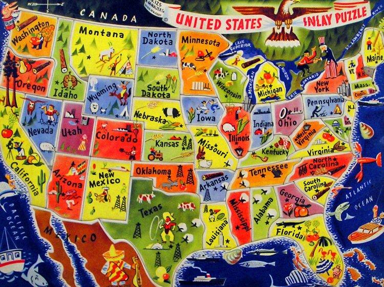 Usa Stati Cartina.I Migliori Stati Degli Stati Uniti Secondo I Nostri Lettori Cinque Cose Belle