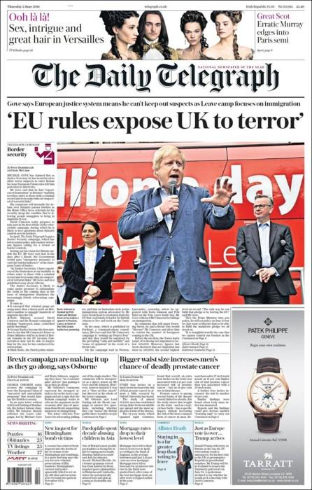 L'impostazione vecchio stampo del Daily Telegraph