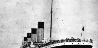 Il Titanic in una foto d'epoca