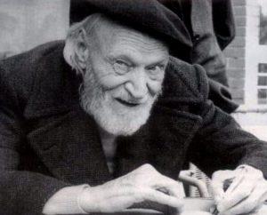 Giuseppe Ungaretti negli anni della vecchiaia