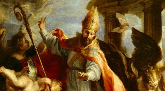 Particolare del Trionfo di Sant'Agostino del pittore spagnolo Claudio Coello, conservato al Museo del Prado di Madrid