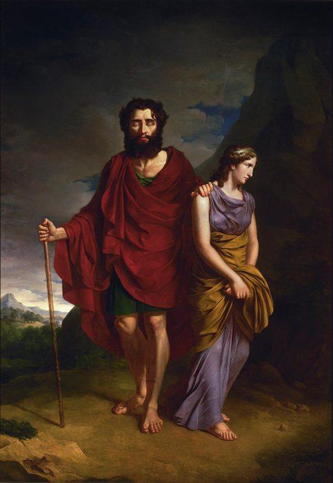 Edipo e Antigone in un'opera di Antoni Brodowski