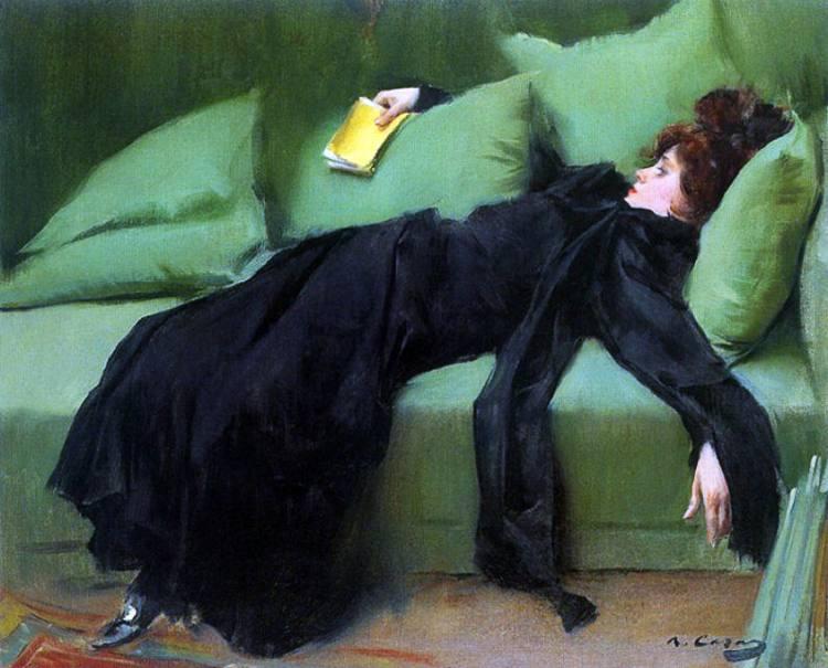 Giovane decadente, bel quadro di Ramon Casas che ironicamente rappresenta lo spirito del decadentismo