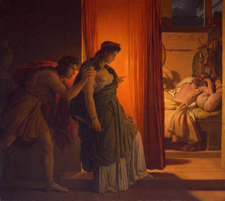 Clitennestra e Agamennone in un dipinto di Pierre-Narcisse Guérin
