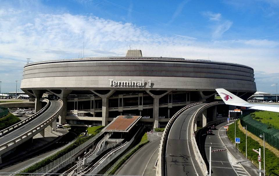 L'aeroporto Charles de Gaulle di Parigi, il secondo più grande d'Europa