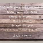 Belle scritte su legno