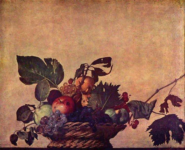 """""""Canestra di frutta"""", la celebre natura morta di Caravaggio"""