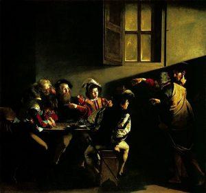 """""""Vocazione di San Matteo"""", capolavoro di Caravaggio"""