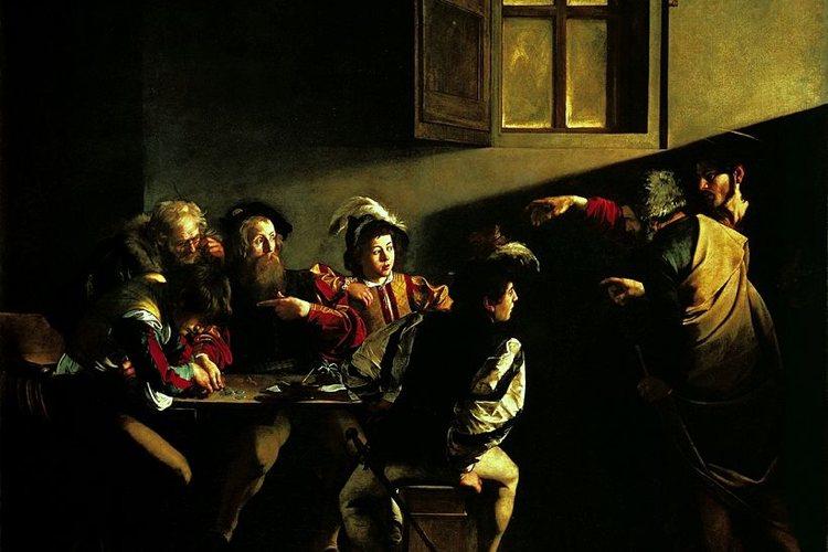 Particolare della Vocazione di San Matteo, una delle più famose opere di Caravaggio