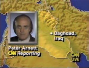 I collegamenti della CNN da Baghdad durante la Guerra del Golfo