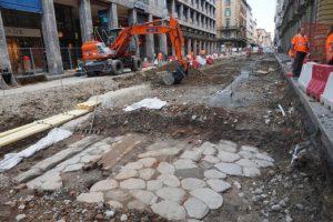 I resti della via Emilia ritrovati a Bologna, in via Ugo Bassi