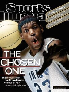 Un giovanissimo LeBron James ai tempi del liceo, quando Sports Illustrated lo presentò come The Chosen One
