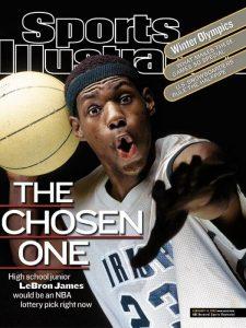 Un giovanissimo LeBron James ai tempi del liceo, quando Sports Illustrated lo presentò come The Chosen One