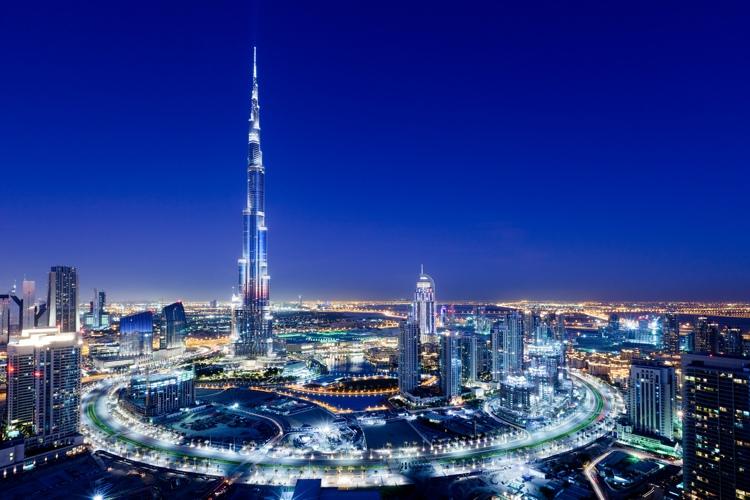Il Burj Khalifa di Dubai, attualmente il primo tra i grattacieli più alti del mondo