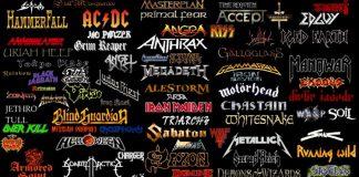 I loghi di alcuni tra i più famosi gruppi metal di sempre