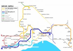 Lo schema delle varie linee presenti a Napoli