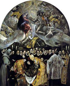 Sepoltura del conte di Orgaz. celebre capolavoro di El Greco