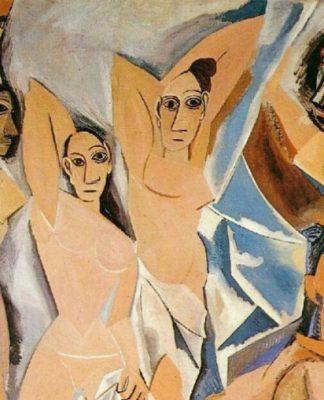 Un particolare di Les demoiselles d'Avignon, una delle opere più famose di Pablo Picasso