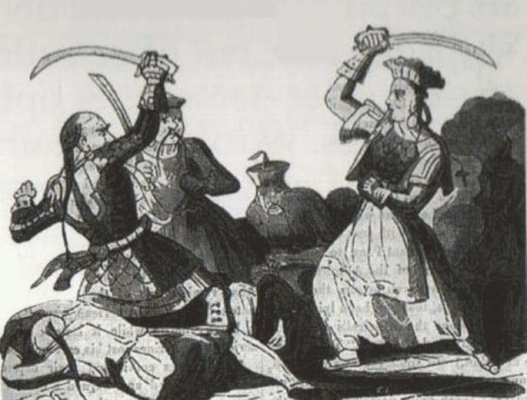 Ching Shih in una illustrazione ottocentesca