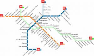 Lo schema delle stazioni della metropolitana di Roma, la seconda in Italia