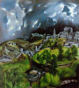 Veduta di Toledo, quadro quasi espressionista di El Greco