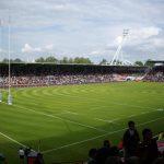 Lo stadio di rugby della città