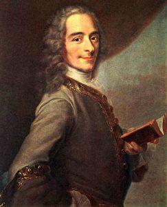 Il celebre filosofo illuminista Voltaire