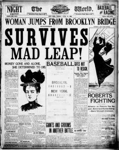 Una prima pagina del New York World, uno dei quotidiani che segnarono la storia del giornalismo