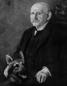 Max von Stephanitz col suo cane da pastore tedesco