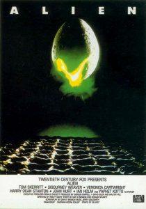 "La locandina di ""Alien"", film tra i più spaventosi di sempre"