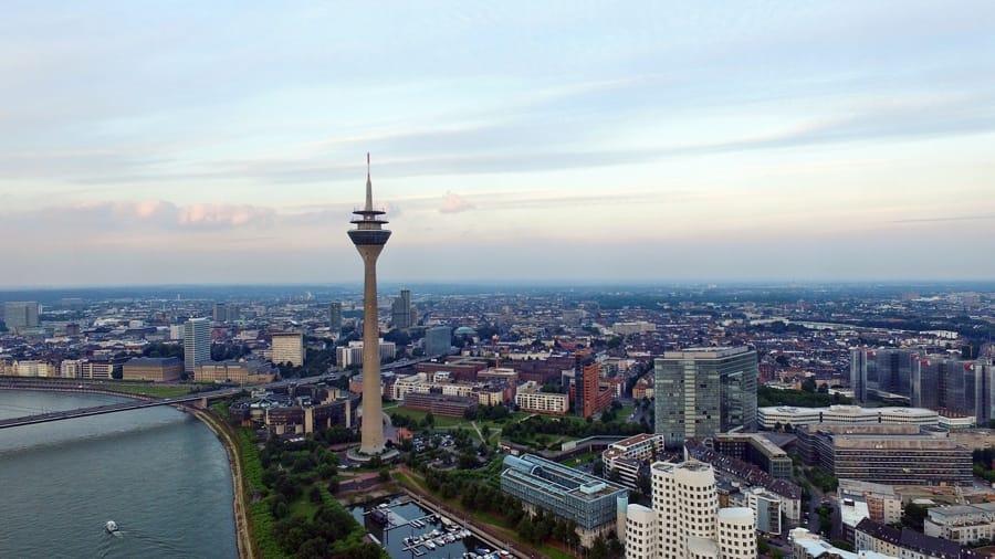 Il panorama di Düsseldorf