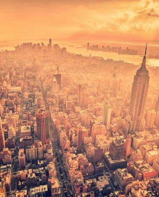 New York – la città più estesa del mondo – fotografata da Midtown Manhattan