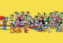 Alcuni dei personaggi più importanti di Topolino, il settimanale che da decenni racconta in Italia le storie Disney