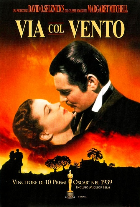 Via col vento, il più classico dei film d'amore che finiscono male