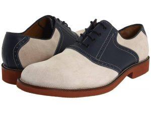 Delle Saddle Shoes bianche e blu di Bostonian